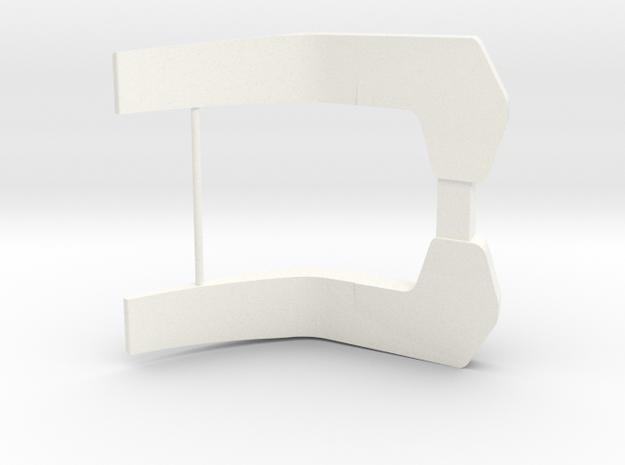 John Deere 7000/8000 series rear fenders in White Processed Versatile Plastic
