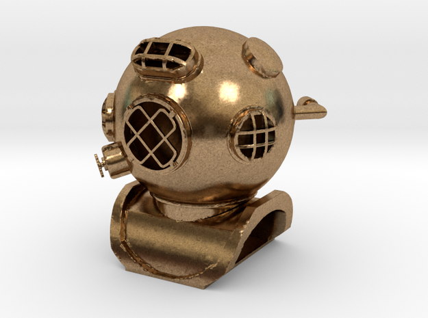 Diving Helmet in Natural Brass