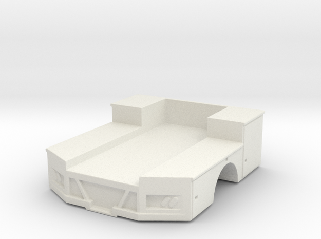 1/64 Truck Bed with tool boxes in White Natural Versatile Plastic