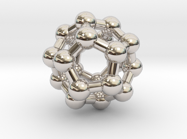 Fullerene C20 in Rhodium Plated Brass