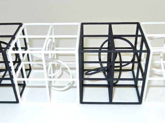 Trefoil and Apicube 3d printed