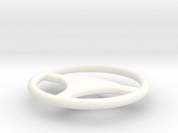 Steering wheel HDJ80 in White Processed Versatile Plastic