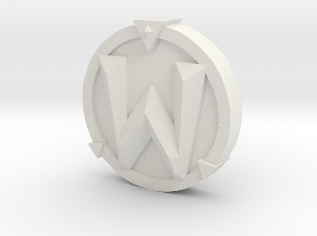 WoW Token in White Natural Versatile Plastic