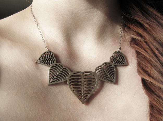 heart leaf necklace 3d printed