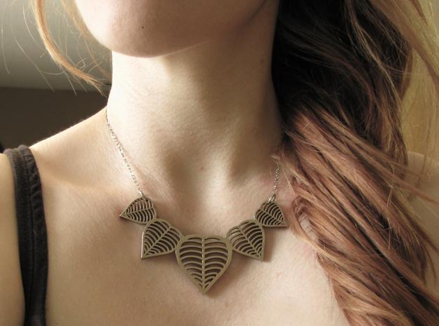 heart leaf necklace 3d printed