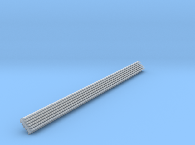 HO Scale 135 Degree INSIDE Structure Corner Trim in Smooth Fine Detail Plastic