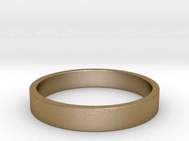 Simple and Elegant Unisex Ring | Size 5.5 in Polished Gold Steel