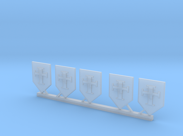 Crusader Shields in Smooth Fine Detail Plastic