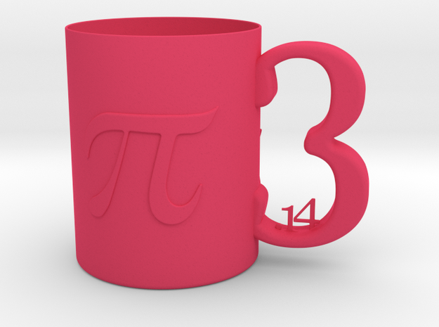 Children PI Decorative Mug  in Pink Processed Versatile Plastic