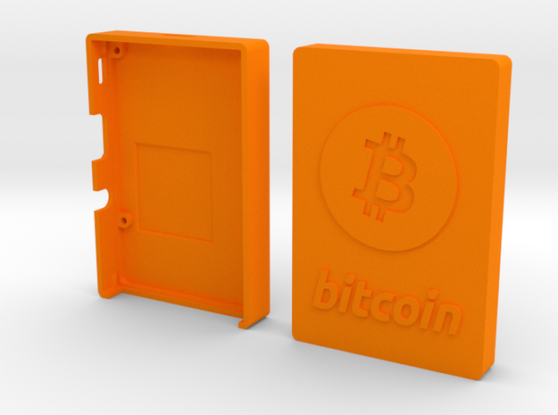 Case for Rasperry Pi 2 or B+ with Bitcoin logo in Orange Strong & Flexible Polished