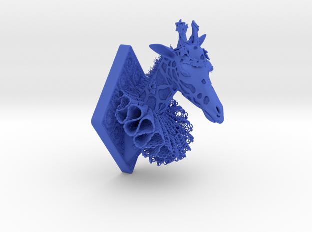 Giraffe in Blue Processed Versatile Plastic