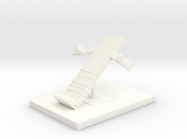 Miniature 1:48 Execution Bed in White Processed Versatile Plastic