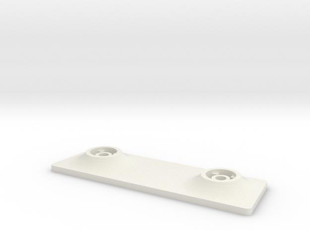 Ranger Ex Landing Gear Mount Back Plate in White Natural Versatile Plastic
