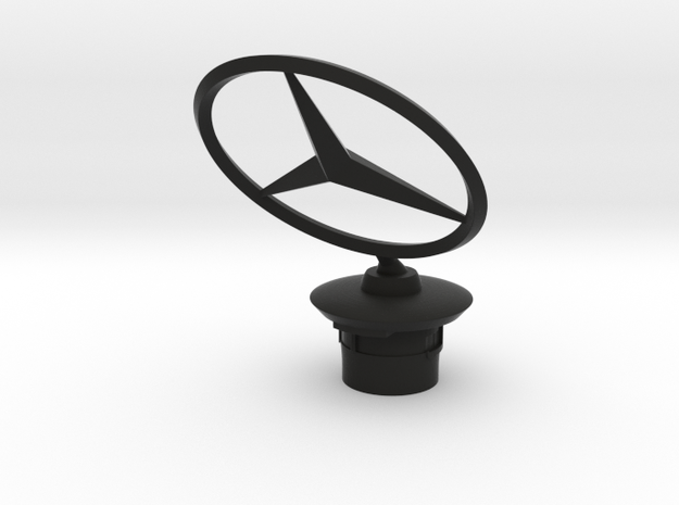 Mercedes Benz Star 45° fixed 2015-03-26 in Black Natural Versatile Plastic