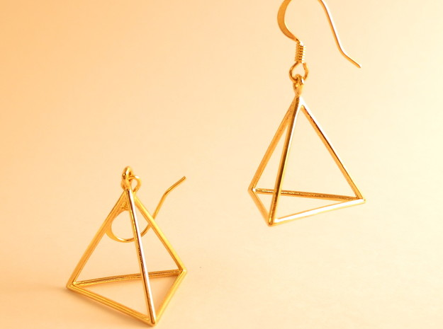 Fire earrings in 18k Gold Plated