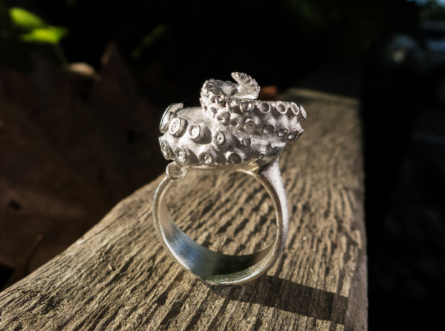 Octopus Ring  in Raw Silver: 7 / 54