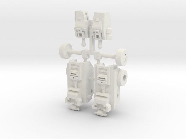 Legend Prime Articulated Legs in White Natural Versatile Plastic