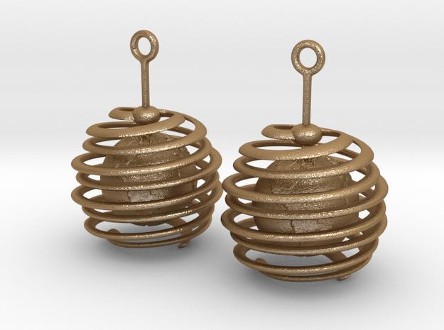Globe Earrings in Matte Gold Steel