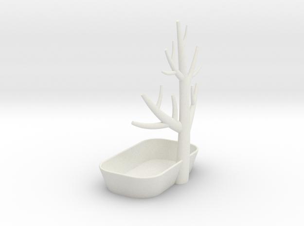 Ring Hanger in White Natural Versatile Plastic