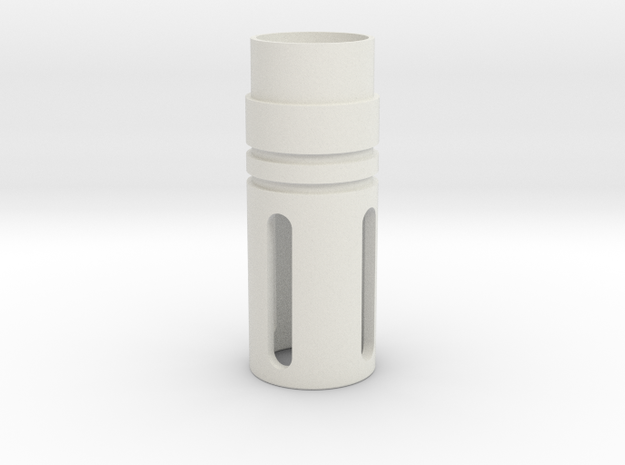 Jodocast's M4 Flash Hider in White Natural Versatile Plastic