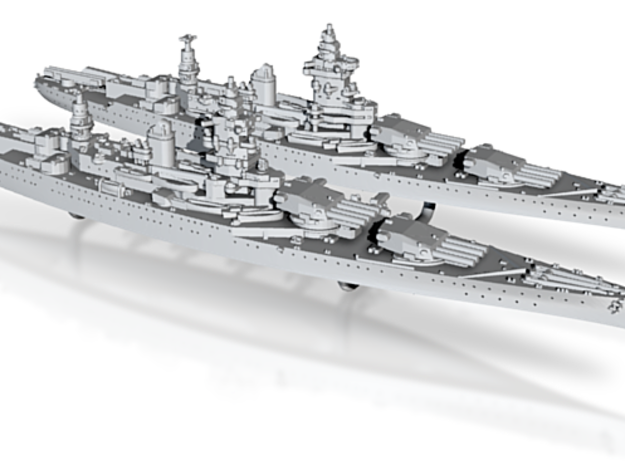 1/3000 MN BC Dunkerque[1940] + Strasbourg[1942] 3d printed