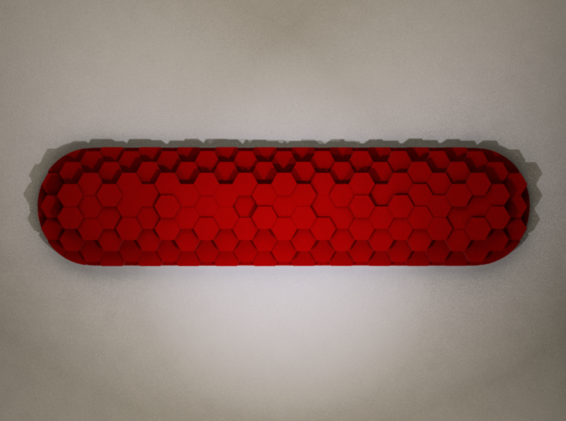 Raised Hex Custom Swiss Army Knife Side Scales 3d printed