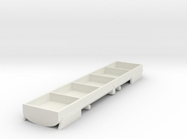 Mittelteil vom Kesselwagen Uacs Schweiz TT 1/120 1 in White Natural Versatile Plastic