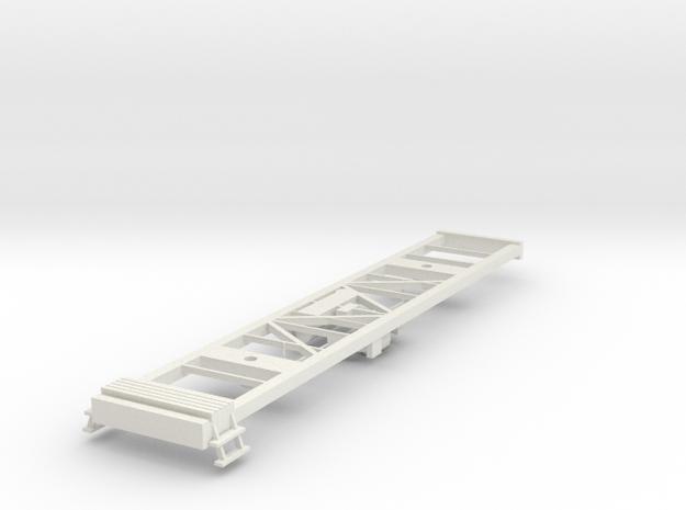 Rahmenunterteil vom Kesselwagen Uacs Schweiz TT 1/ in White Natural Versatile Plastic