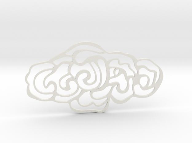 Cloud Pendant in White Natural Versatile Plastic