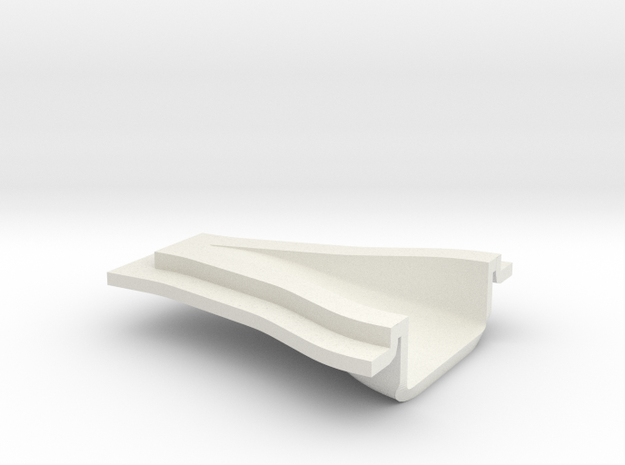 "NACA Intake Duct - 1/16"" panel 24 x 16 x 6 mm in White Strong & Flexible"