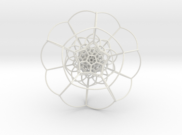 120-Cell on Hypersphere, Stereographic Projection