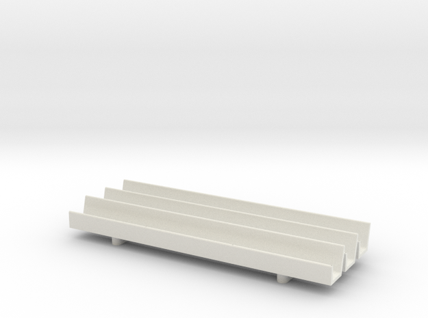 1/64 Fence Line Feedbunk - 90ft in White Natural Versatile Plastic