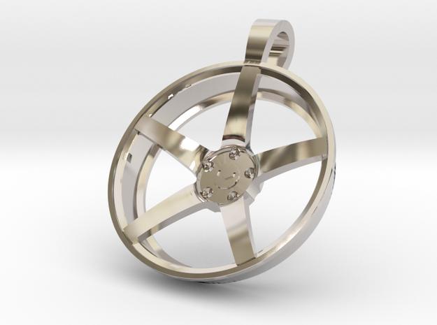 Vossen CV3 Flat KeyChain 35mm  in Rhodium Plated Brass