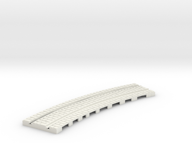 P-165st-curve-tram-long-250r-1a in White Natural Versatile Plastic
