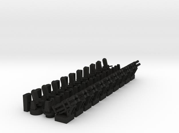 10 CIWS + 6 RAM-1 + 4 RAM-2 + 10 Harpoon 3d printed