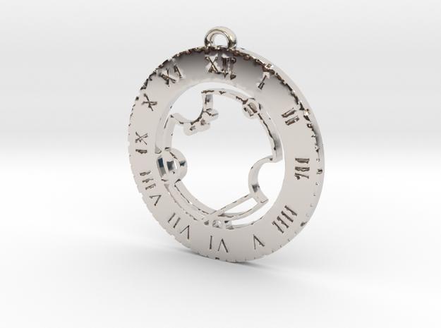 Avery - Pendant in Rhodium Plated Brass
