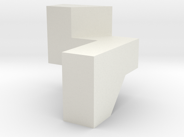 Co-Mo Cube Piece in White Natural Versatile Plastic