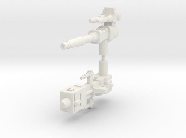 Legendary Tank Guns (5mm handles) in White Natural Versatile Plastic