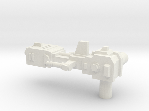 Legendary Weapon: Tank Tyrant (with two 5mm handle in White Natural Versatile Plastic