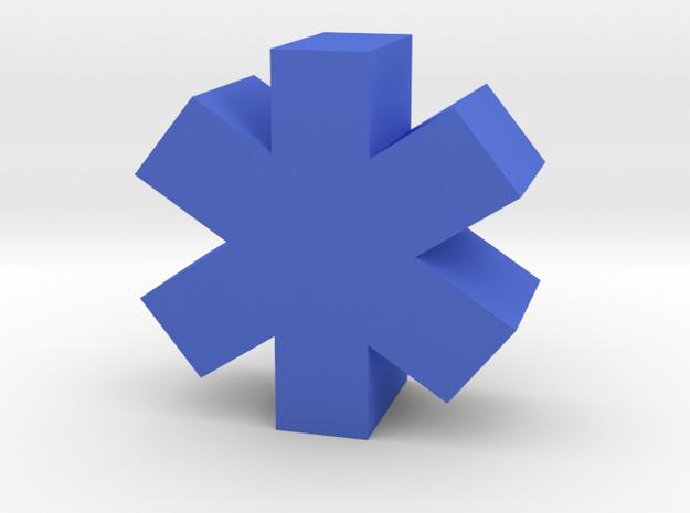 Game Piece, Medical Symbol in Blue Processed Versatile Plastic