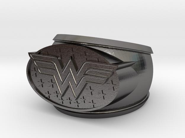 Wonder Woman Ring  in Polished Nickel Steel