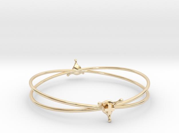 PositiveSplash bracelet in 14k Gold Plated Brass