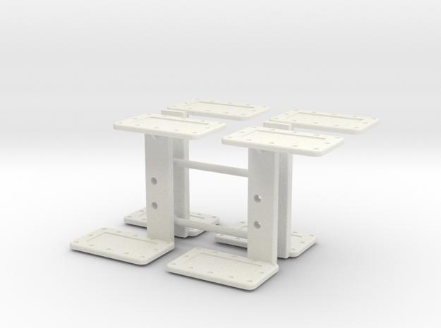 John Deere 5020 6030 Steps x4 in White Natural Versatile Plastic