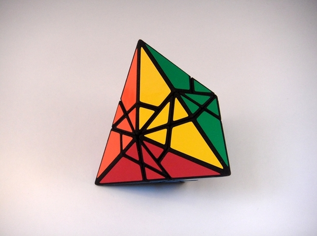 Fractured Tetrahedron Puzzle in White Strong & Flexible