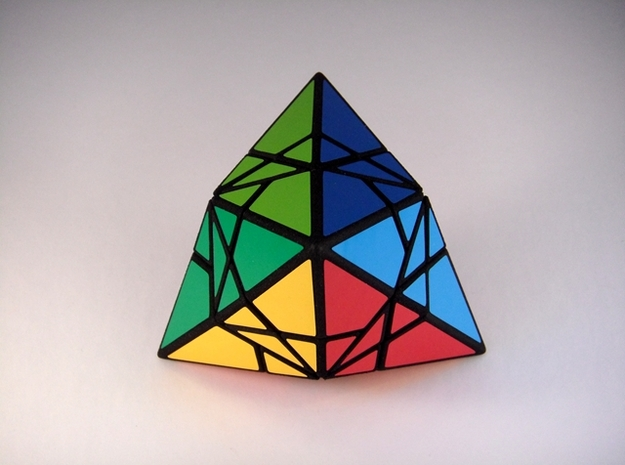 Fractured Tetrahedron Puzzle 3d printed Vertex Type 2
