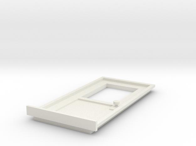 DoorA 1/29 scale in White Natural Versatile Plastic