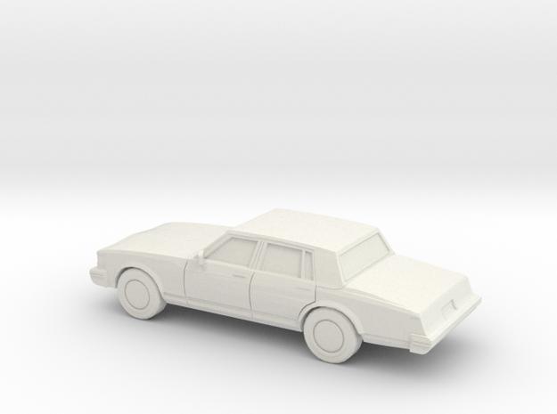 1/87 1977 Cadillac SeVille in White Natural Versatile Plastic