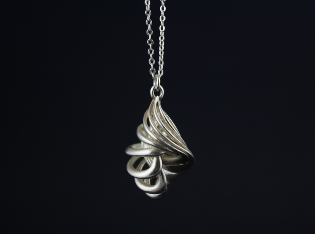CARACOLA PENDANT in Natural Silver