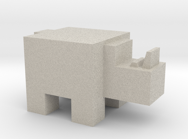 Cubicle Rhino 3d printed