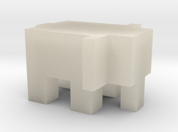 Cubic Elephant 3d printed